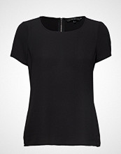 Vero Moda Vmsasha Ss Zip Top Noos T-shirts & Tops Short-sleeved Svart VERO MODA