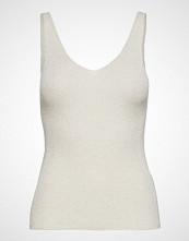 Mango Metallic Knit Top T-shirts & Tops Sleeveless Gull MANGO