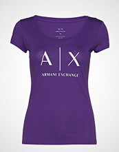 Armani Exchange Ax Woman T-Shirt T-shirts & Tops Short-sleeved Lilla ARMANI EXCHANGE