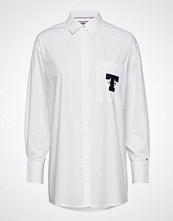 Tommy Jeans Tjw Solid Tommy Deta Langermet Skjorte Hvit TOMMY JEANS