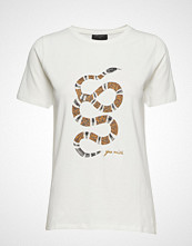 FREE/QUENT Seni-Tee T-shirts & Tops Short-sleeved Hvit FREE/QUENT