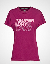 Superdry Core Sport Graphic Tee T-shirts & Tops Short-sleeved Lilla SUPERDRY