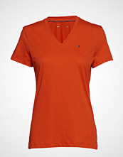 Tommy Hilfiger V-Neck Tee T-shirts & Tops Short-sleeved Oransje TOMMY HILFIGER