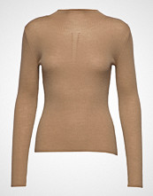 Sand Fellini Rib - Eleri Top T-shirts & Tops Long-sleeved Brun SAND