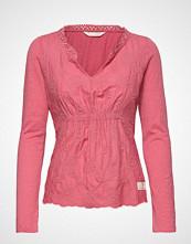 Odd Molly Leaving Happier Top T-shirts & Tops Long-sleeved Rosa ODD MOLLY