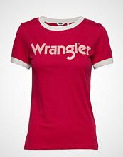 Wrangler Ringer Tee T-shirts & Tops Short-sleeved Rød WRANGLER