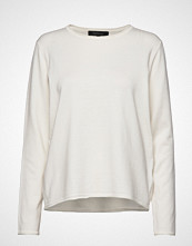 Soft Rebels Zara O-Neck Knit Roll Edge Strikket Genser Hvit SOFT REBELS