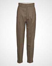 Hope Star Trousers Bukser Med Rette Ben Brun HOPE