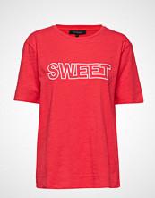 Soft Rebels Ebba T-Shirt T-shirts & Tops Short-sleeved Rød SOFT REBELS