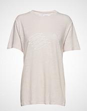 Iro Lucie T-shirts & Tops Short-sleeved Creme IRO