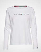 Tommy Hilfiger Cn Tee Ls Logo T-shirts & Tops Long-sleeved Hvit TOMMY HILFIGER