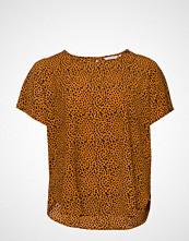 Only Carmakoma Carluxeve Ss Top Aop T-shirts & Tops Short-sleeved Brun ONLY CARMAKOMA