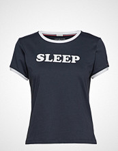 Tommy Hilfiger Ss Tee Slogan T-shirts & Tops Short-sleeved Blå TOMMY HILFIGER