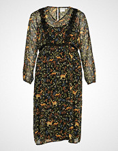 Junarose Jralkia L/S Midi Dress - K Knelang Kjole Multi/mønstret JUNAROSE