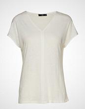 Mango Linen T-Shirt T-shirts & Tops Short-sleeved Hvit MANGO