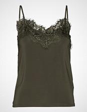 Soaked in Luxury Sl Clara Singlet T-shirts & Tops Sleeveless Grønn SOAKED IN LUXURY