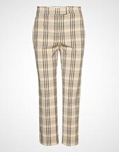 Mango Straight Trousers Bukser Med Rette Ben Beige MANGO