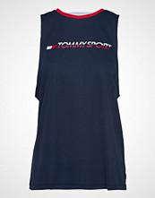 Tommy Sport Open Back Tape Tank T-shirts & Tops Sleeveless Blå TOMMY SPORT
