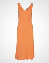 Mango Midi Modal Dress Knelang Kjole Oransje MANGO