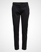 2nd One Carine 065 Black, Pants Bukser Med Rette Ben Svart 2ND