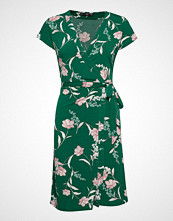 Mango Wrap Dress Knelang Kjole Grønn MANGO