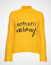Armani Exchange Ax Woman Sweather Strikket Genser Gul ARMANI EXCHANGE
