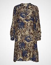Rabens Saloner Wallflower Dress Knelang Kjole Blå RABENS SAL R