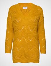Only Onlhavana L/S V-Neck Pullover Cc Knt Strikket Genser Gul ONLY