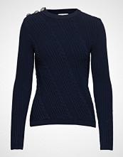 Ganni Cotton Knit Pullover Strikket Genser Blå GANNI