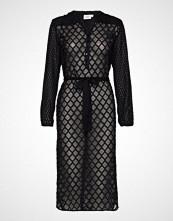 Saint Tropez U6038, Woven Shirt Dress Below Knee Knelang Kjole Svart SAINT TROPEZ