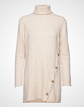 Soft Rebels Claire Rollneck Long Knit Kort Kjole Creme SOFT REBELS