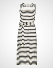 Banana Republic Sl Stripe Tie Waist Column Dress Knelang Kjole Hvit BANANA REPUBLIC