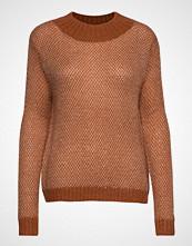 Coster Copenhagen Knit W. Mixed Pattern Strikket Genser Brun COSTER COPENHAGEN