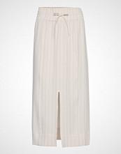 Ganni Heavy Crepe Skirt Langt Skjørt Hvit GANNI
