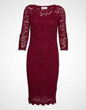 Rosemunde Dress 3/4s Knelang Kjole Rød ROSEMUNDE