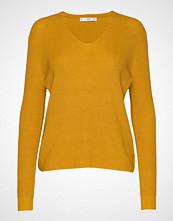 Mango V-Neckline Sweater Strikket Genser Gul MANGO