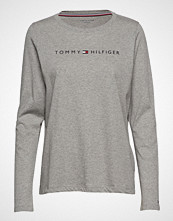 Tommy Hilfiger Cn Tee Ls Logo T-shirts & Tops Long-sleeved Grå TOMMY HILFIGER