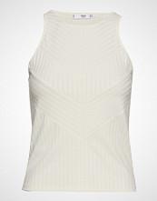 Mango Textured Panel Top T-shirts & Tops Sleeveless Hvit MANGO