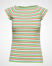 Mads Nørgaard 2x2 Soft Stripe Throna T-shirts & Tops Short-sleeved Grønn MADS NØRGAARD