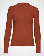 Mango Ribbed T-Shirt T-shirts & Tops Long-sleeved Rød Mango