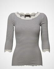 Rosemunde Silk T-Shirt Boat Neck Regular W/Vi T-shirts & Tops Long-sleeved Grå ROSEMUNDE