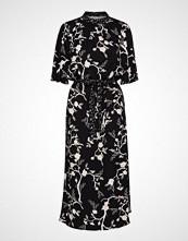 Saint Tropez U6035, Woven Maxi Dress 3 /4 Sleeve Maxikjole Festkjole Svart SAINT TROPEZ