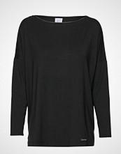 Calvin Klein L/S Wide Neck T-shirts & Tops Long-sleeved Svart CALVIN KLEIN