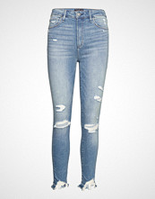 Abercrombie & Fitch Destory Slim High Rise Ankle Jeans Skinny Jeans Blå ABERCROMBIE & FITCH