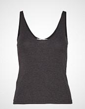 Mango Ribbed Knit Top T-shirts & Tops Sleeveless Grå MANGO
