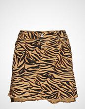 Please Jeans Skirt Short Zebra Kort Skjørt Brun PLEASE JEANS