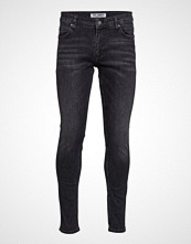 Just Junkies Max Silver Grey Slim Jeans Svart JUST JUNKIES