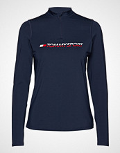 Tommy Sport Training Top 1/4 Zip T-shirts & Tops Long-sleeved Blå TOMMY SPORT