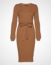 Vero Moda Vmsvea Ls O-Neck Dress Strikket Kjole Brun VERO MODA