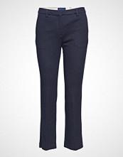 Gant O1.Herringb Jersey Pants Stramme Bukser Stoffbukser Blå GANT